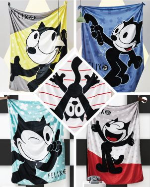 Eco-Fur Blanket Felix The Cat