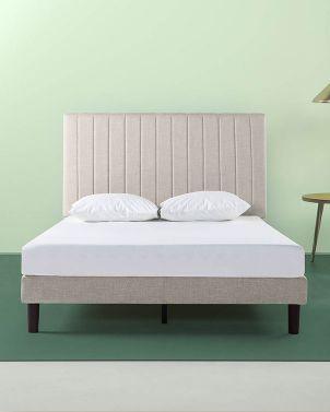 ฐานเตียง ZINUS หัวเตียงเย็บแบบสูง รุ่น DEBI