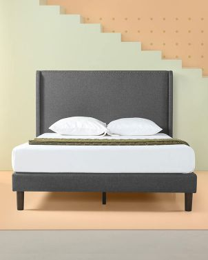 Zinus MARCUS - Upholstered Wingback Platform Bed