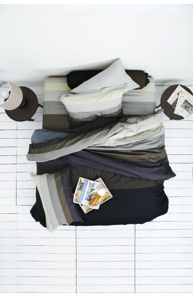 Lotus รุ่น Impression Stripies ชุดผ้าปูที่นอน LI-SD-10B