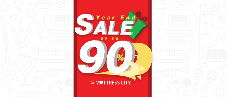 Year End Sale ลดราคาฉลองส่งท้ายปีสูงสุดถึง 90%