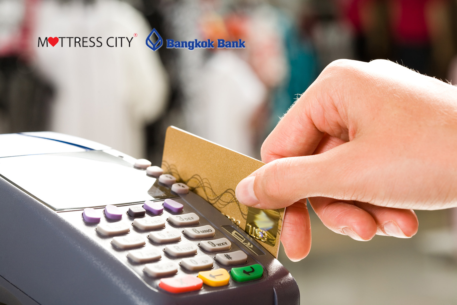 Spread the cost with credit card installments and cash back from Bangkok Bank