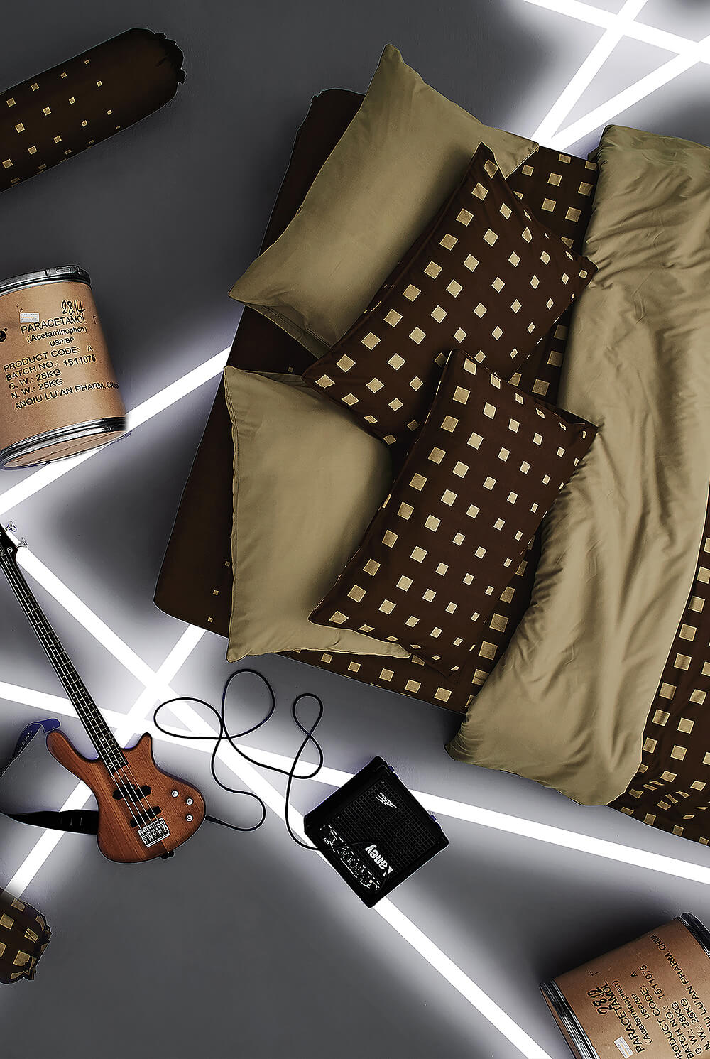 Dunlopillo รุ่น Stella ชุดผ้าปูที่นอน DL-LATTE-S