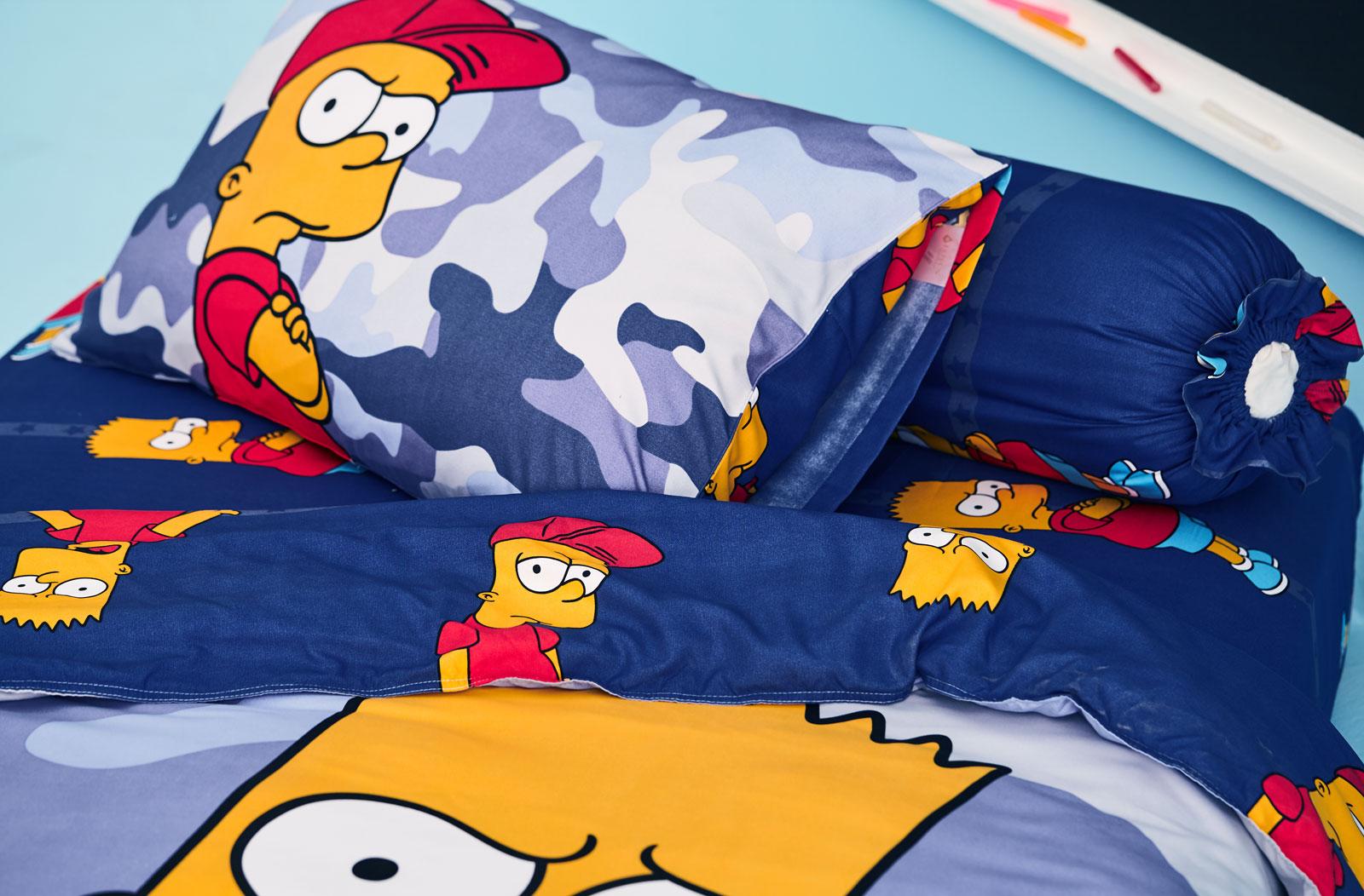 Lotus รุ่น Pop-art The Simpsons ชุดผ้าปูที่นอน LI-SS-06 (3.5 ft.)