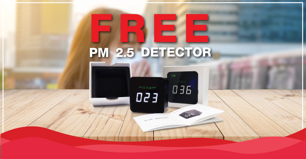 Online Exclusive: Free Gift PM 2.5 Air-Quality Detector
