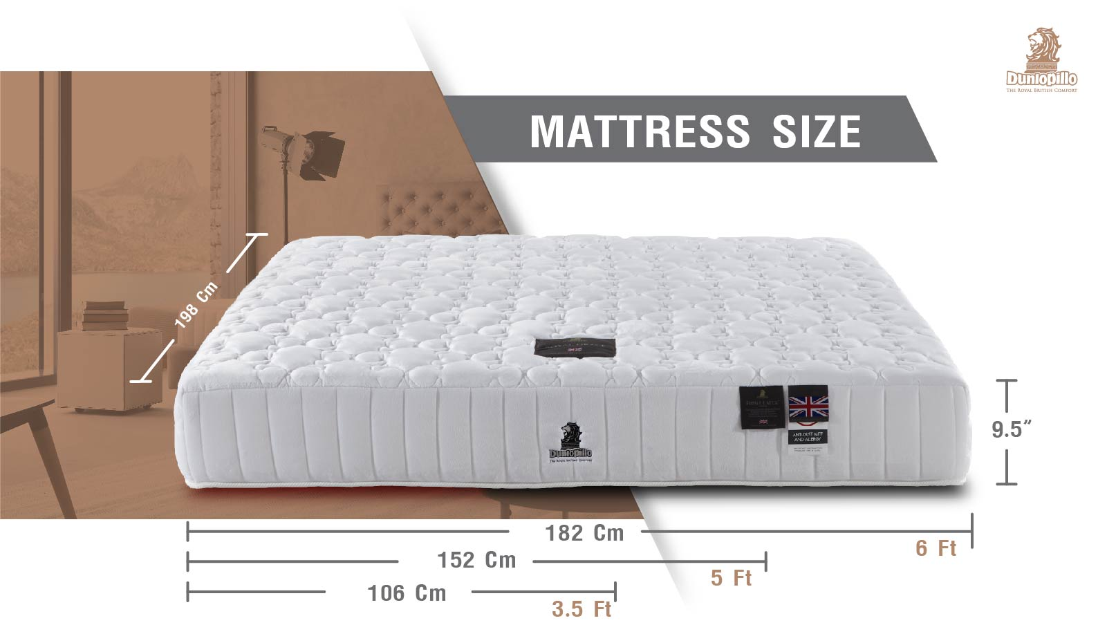 Dunlopillo Mattress - Royal Grace