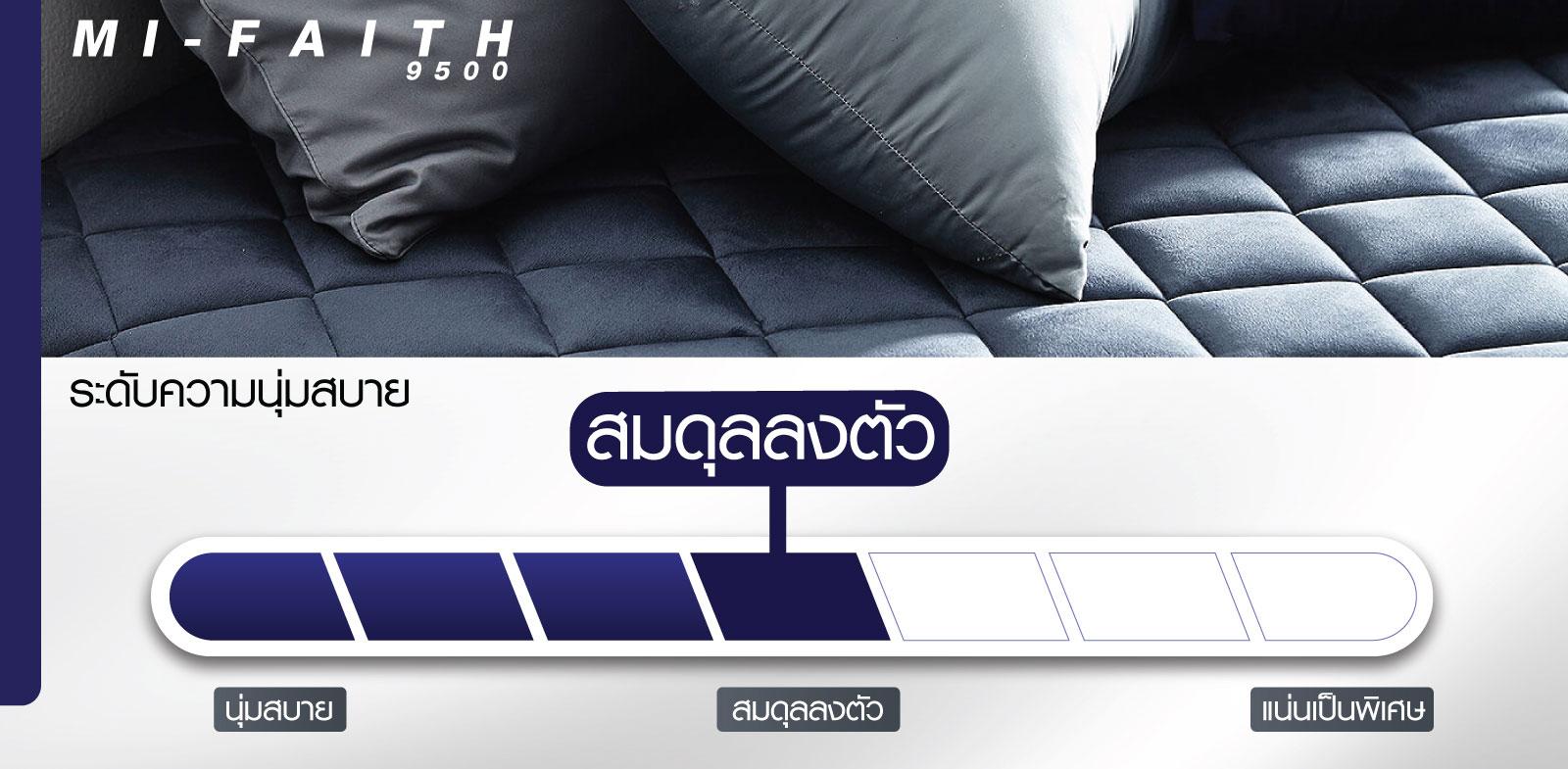 ที่นอน Midas รุ่น Mi-Faith 9500